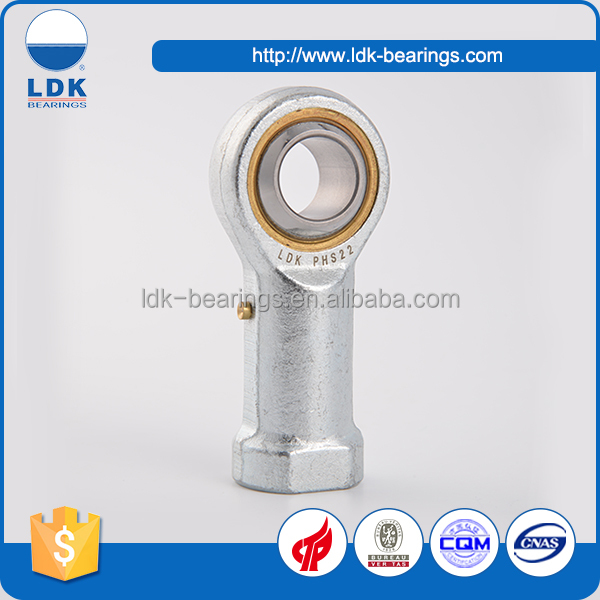 TS16949 certification PHS17 series metric steel rod ends bearing