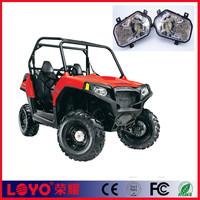 Factory price chrome & black Led headlamp ATV UTV polaris RZR900 led headlight