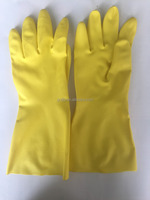 Chemical Resistance Nitrile Safety Yellow Work Household Gloves