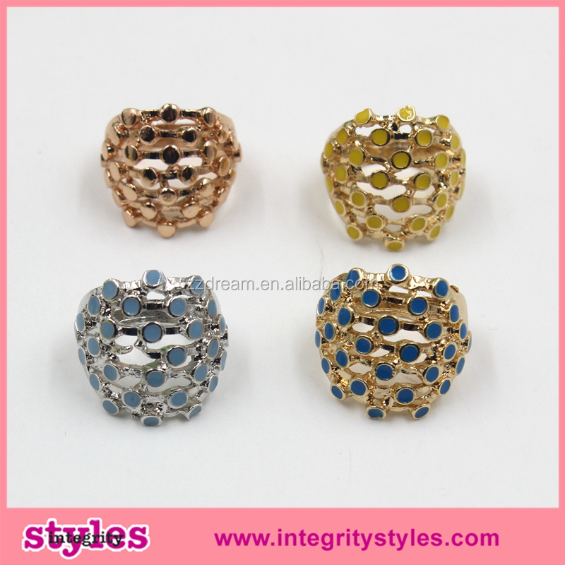 Wholesale Trendy Beautiful Colorful Elegance Fashion Jewelry Rings