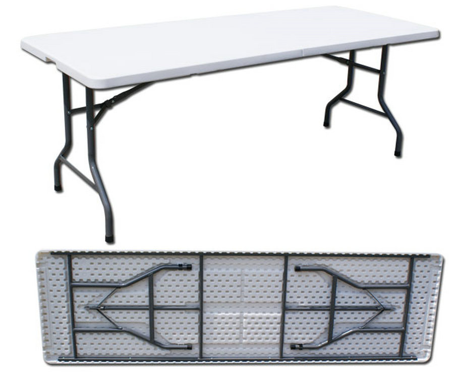 240cm plastic folding dining table plastic folding - Plastic folding dining table ...