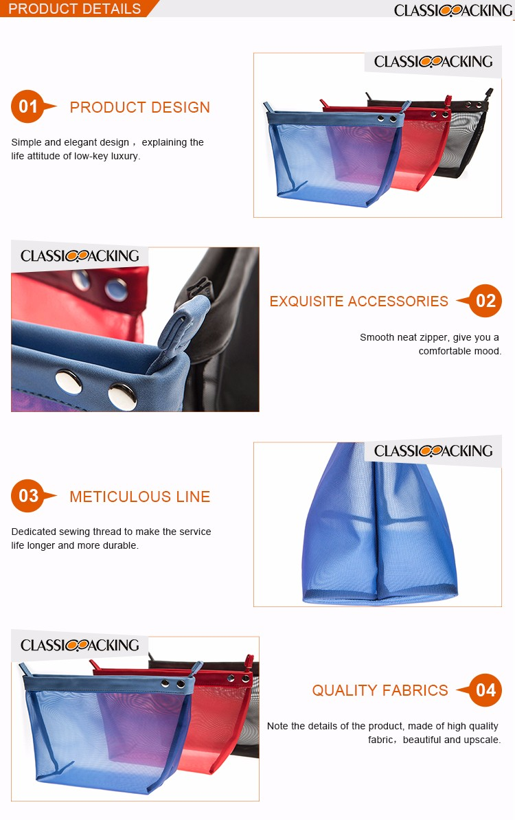 Top simple design wholesale fashion ladies travel bags cosmetic bag