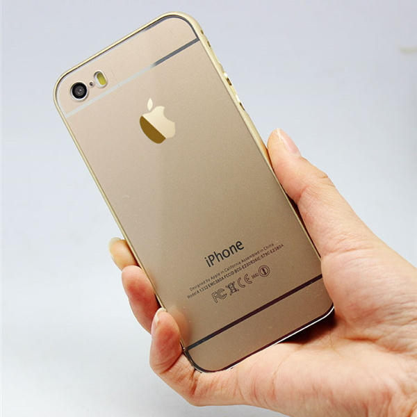 Luxury Aviation Aluminum Metal Bumper + PC Hybrid Metal Phone Case for Apple iPhone 5 5s
