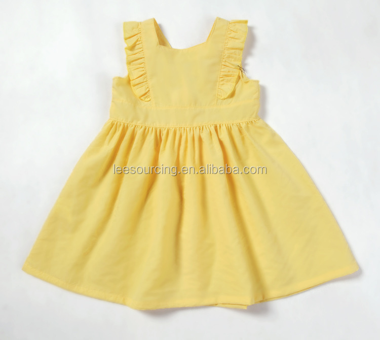 Summer sleeveless modern latest girl dress kids girl smocking dress