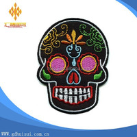 Skull tattoo biker horror goth punk emo rock retro applique iron-on patch