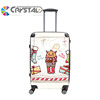 2017 Customized Design royal ABS luggage bag and PC trolley luggage with 360 degree universal swivel wheels