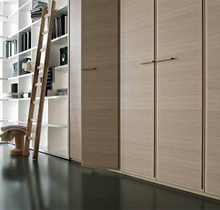 Simple Laminate Wooden Design Closet Bedroom Furniture Wardrobe with Accessories