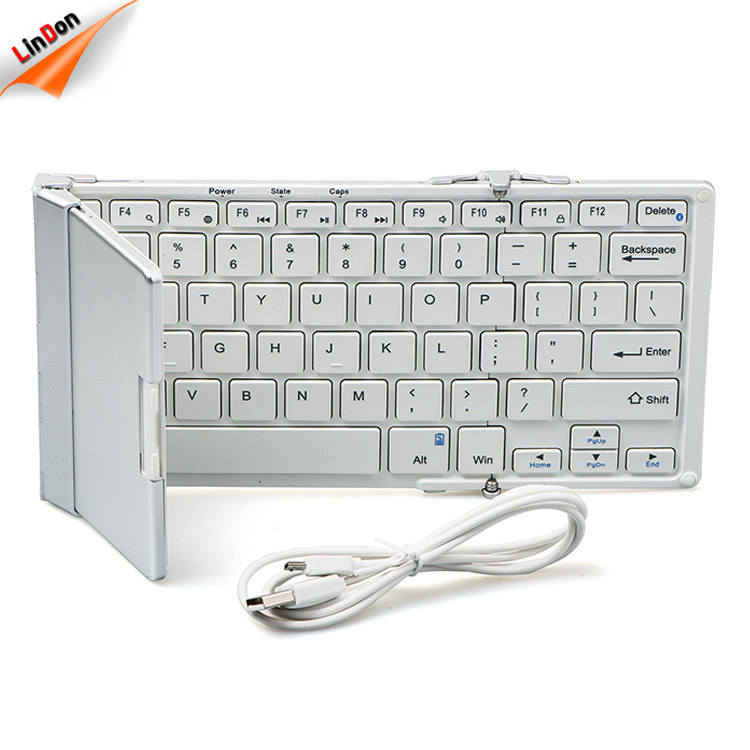 Smart Design Ultra Slim Aluminum+ABS Folding/Fordable Portable Mini Bluetooth Wireless Keyboard for Samsung Smart TV
