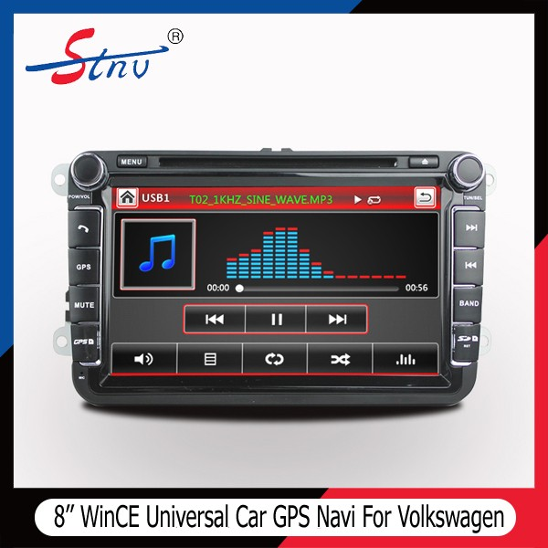 Wince 8 Inch In Dash Navigation With SWC/Car DVD/Radio For Volks wagen