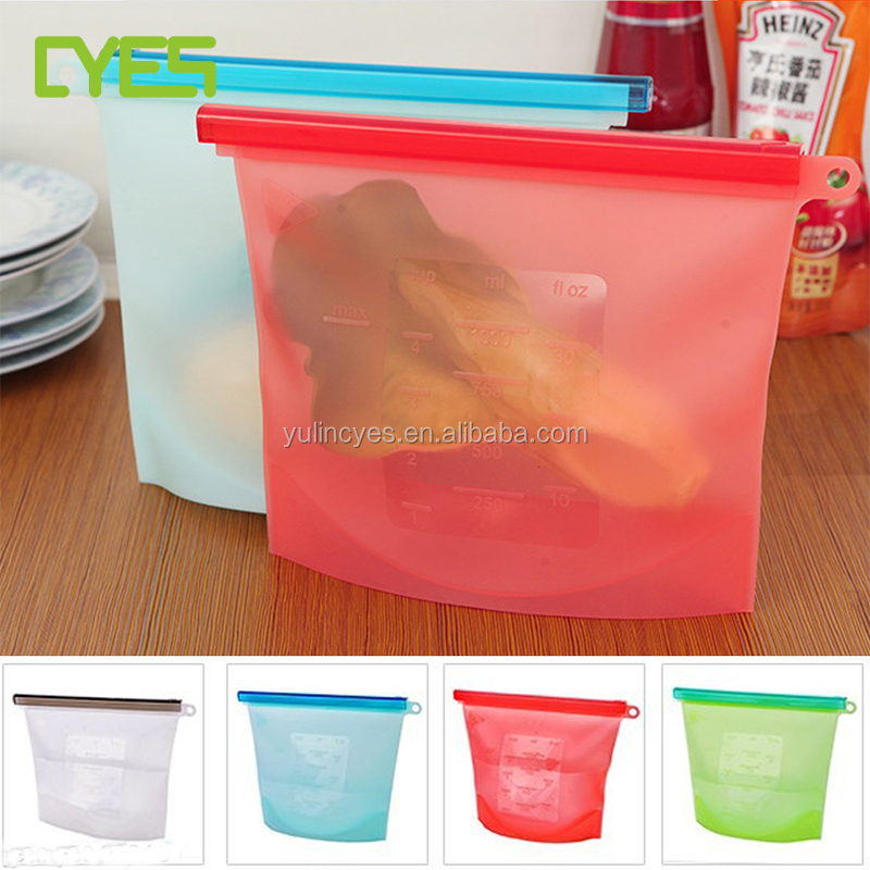 Factory Price Good Quality Reusable Durable Vacuum Silicone Food Storage Container Bag Bpa free
