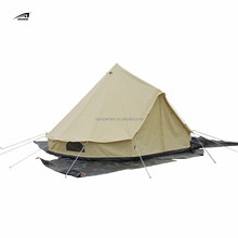 Wholesale Camping Family Caravan Large Luxury Glamping House cotton canvas tipi tent Bell Military