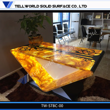 Tell World designing the newest design artificial stone free standing bar