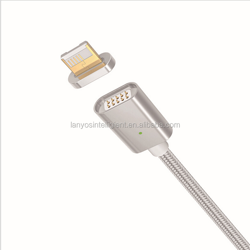 Magnetic keyring micro usb charging cable for iphone magnetic charger