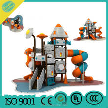 plastic playground/children outdoor slide structure/kindergarten commercial outside playground equipment
