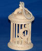 New design cage shaped wooden bird house with handle rope