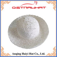 High cost performance festival celebration white straw material hat
