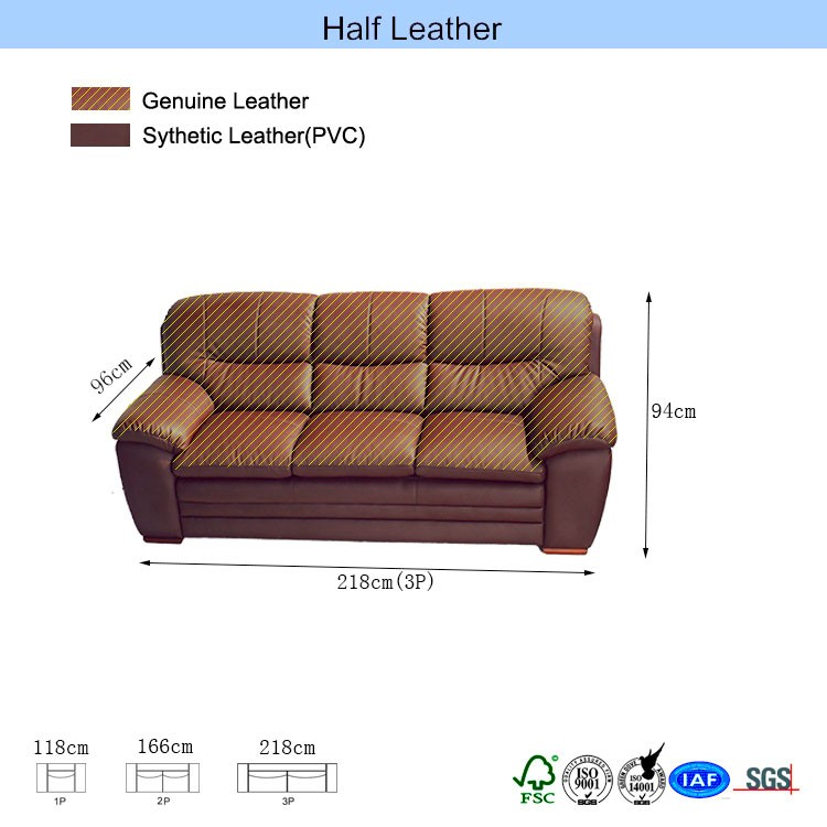 Hot selling modern furniture 3s+2s sectional sofa
