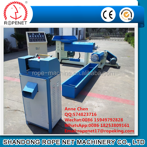 plastic pellets extruder machine