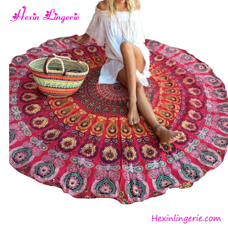 vente chaude femmes grande serviette de plage ronde robe. Black Bedroom Furniture Sets. Home Design Ideas