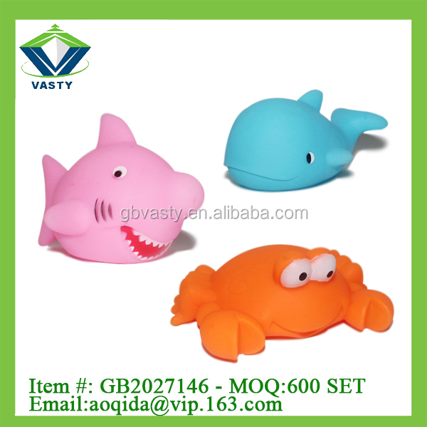 Sea world plastic toy animal soft vinyl toys