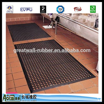 Cheap price colorful Interlocking Anti fatigue Non Slip Kitchen Rubber Mat