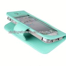 2014 hot sell leather case for iphone5g for iphone5 leather case