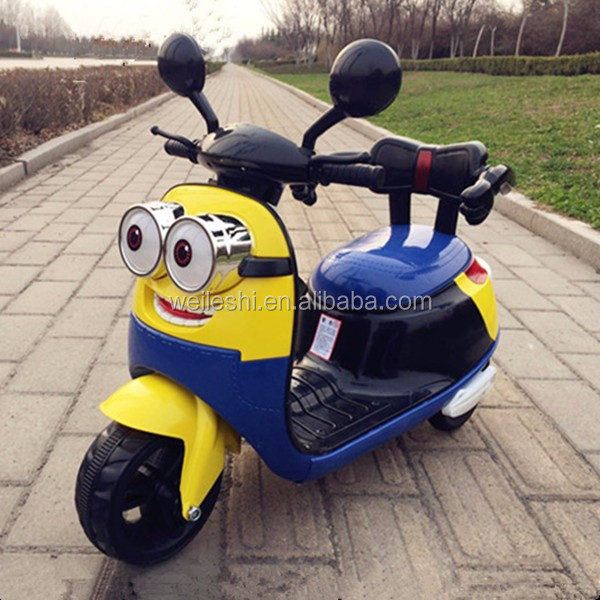 Popular design battery operated cheap price kids electric motorcycle 6v toy battery powered electric car 3 wheel