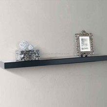 Top quality cheap glass black mirrored wall floating shelves