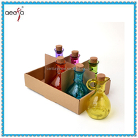 cheap mini cute beautiful spray color clear new design wide mouth glass bottle for water,juice and milk