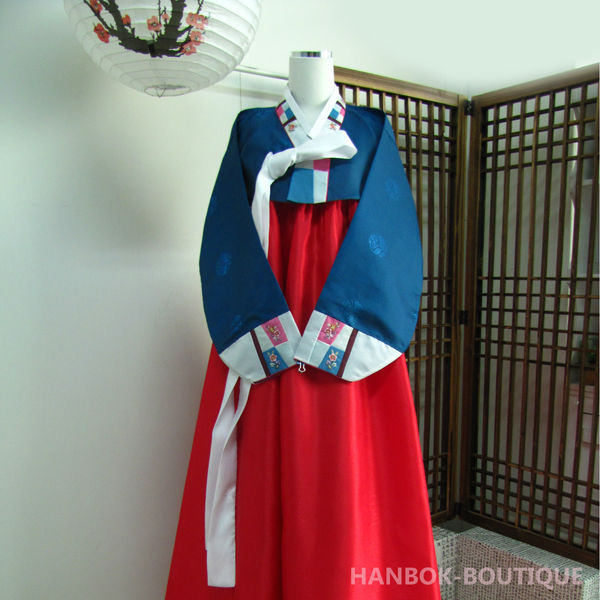 Feel-Korea / Korean Traditional Hanbok for Women Custom Made Korean Hanbok Dress A0010701013003