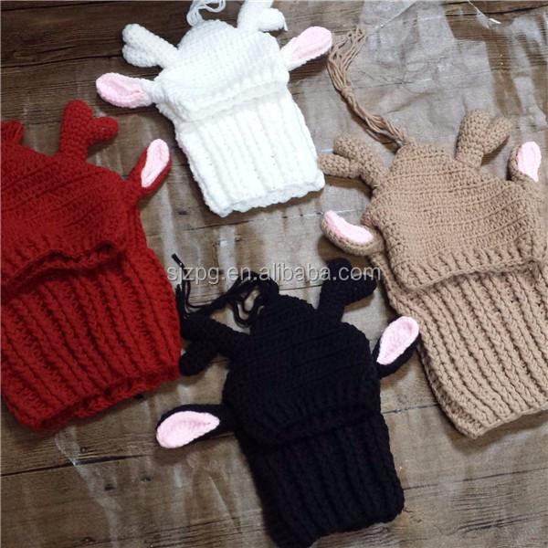 Crochet Reindeer Antlers Dog Apparel Hat - Buy Reindeer ...