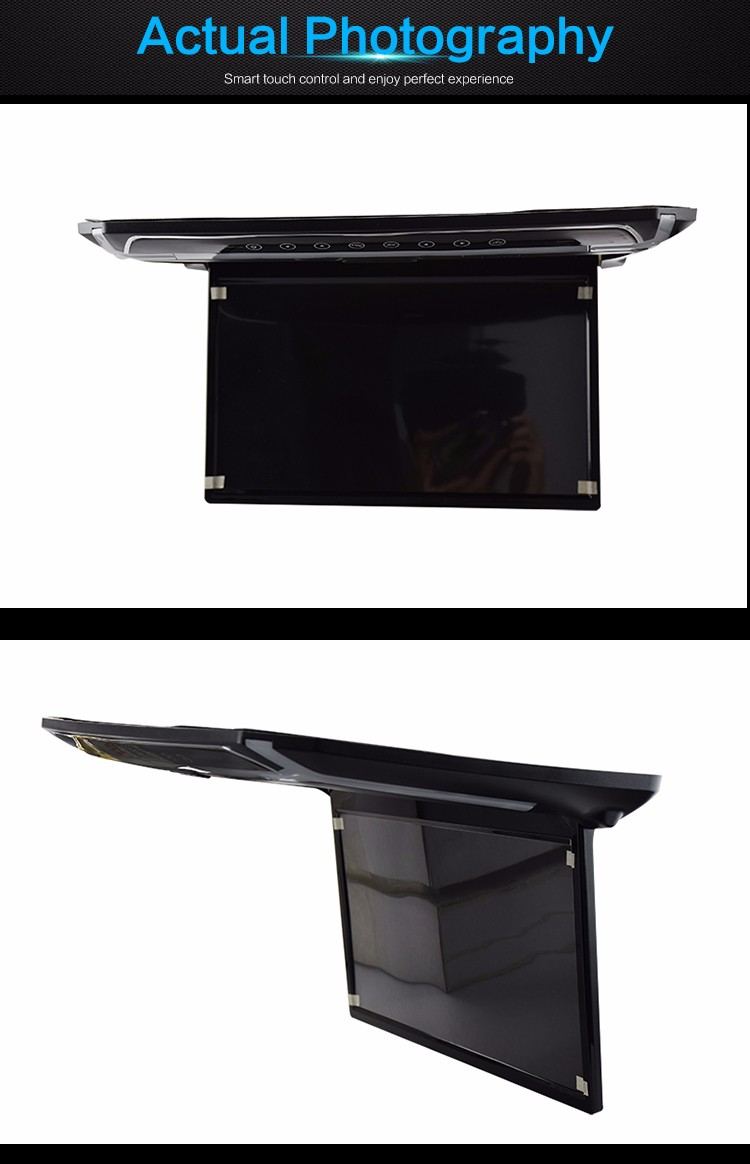 mirror link 15.6 Inch USB/SD/HDMI Overhead Bus Lcd roof mount monitor