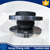 High quality Single or double sphere acid resist gi flexible rubber joint union