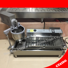 Automatic Donut Machine 6L Hopper Capacity 3KW Commercial Donut Maker 3 Sets Molds Stainless Steel Donut Maker Machine (3KW)