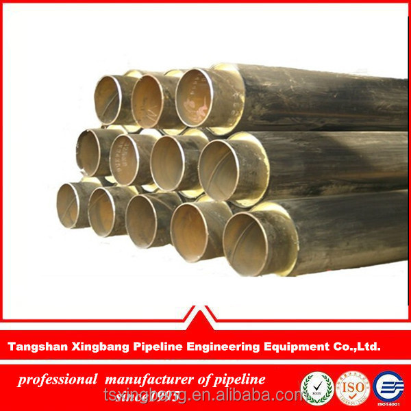 Bg A 106b carbon steel pipe insulation with foam insulation and hdpe jacket for crude oil supply