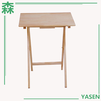 Yasen Houseware Wooden Folding Side Dining Table Leisure Folding Bbq Table