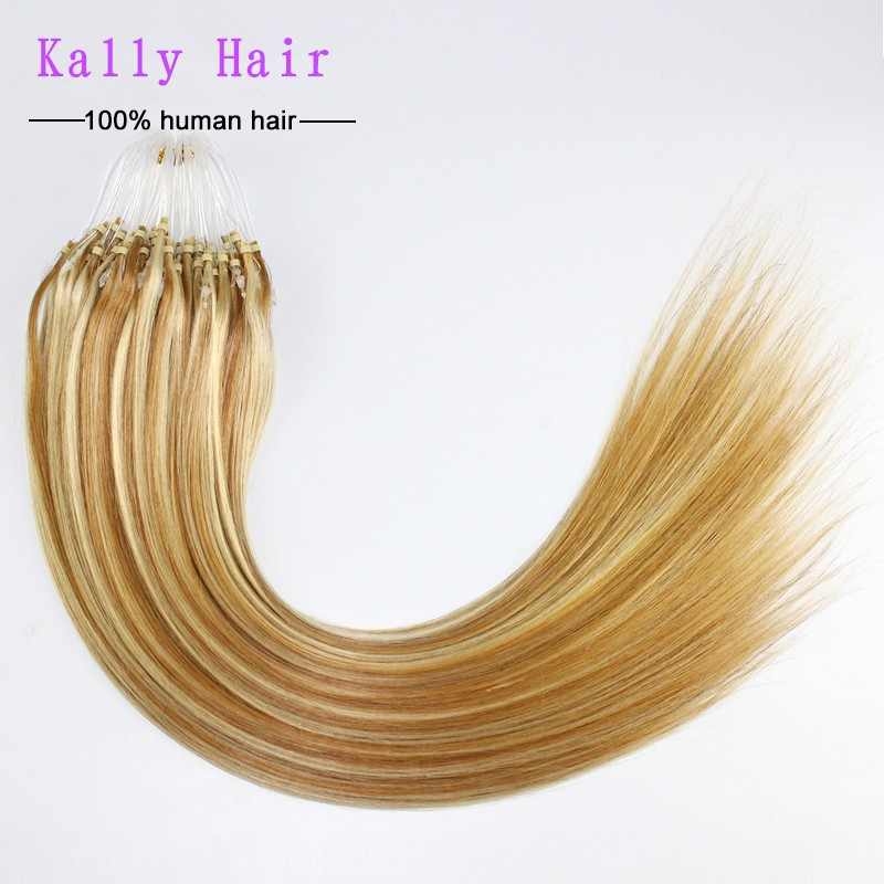 6A Grade Fashion Keratin Fusion Loop Tip Hair, 100% Cheap Indian Remy Micro Loop Ring Human Hair Extension 1gram