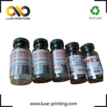 Perforated double-sided adhesive label 10ml hologram vial label
