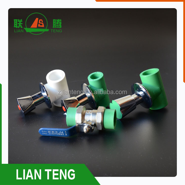 china manufacturer plastic tube ppr high quality ppr dark valve for water control
