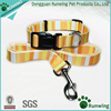 wholesale high quality custom print nylon heated dog collar leash, personalized pattern