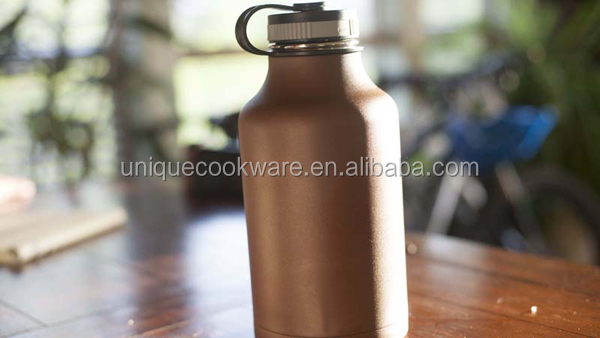 64 oz Wide Mouth Copper Stainless Steel Insulated Water Bottle Beer Growler