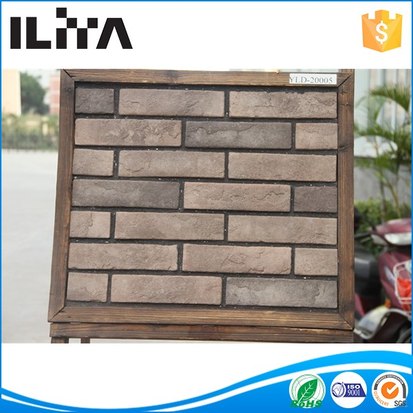 Sound insulation white cement thin brick wall artificial stone wall cladding