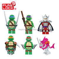 Cheap building block minifigures Teenage Mutant Ninja Turtles