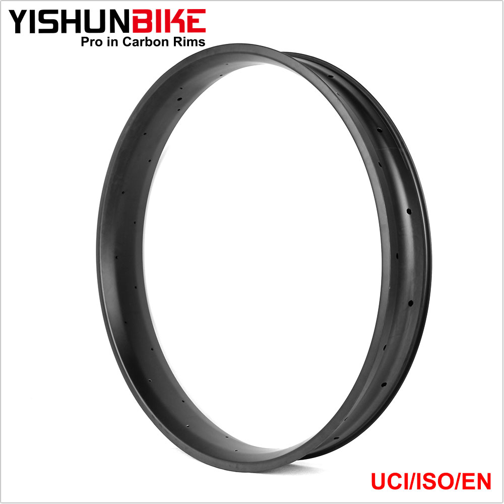 2016 YISHUNBIKE Fatbike Rims 85mm Width Double Walls Hookless Clincher&Tubeless 26er Bike Carbon Fat Bicycle Rim