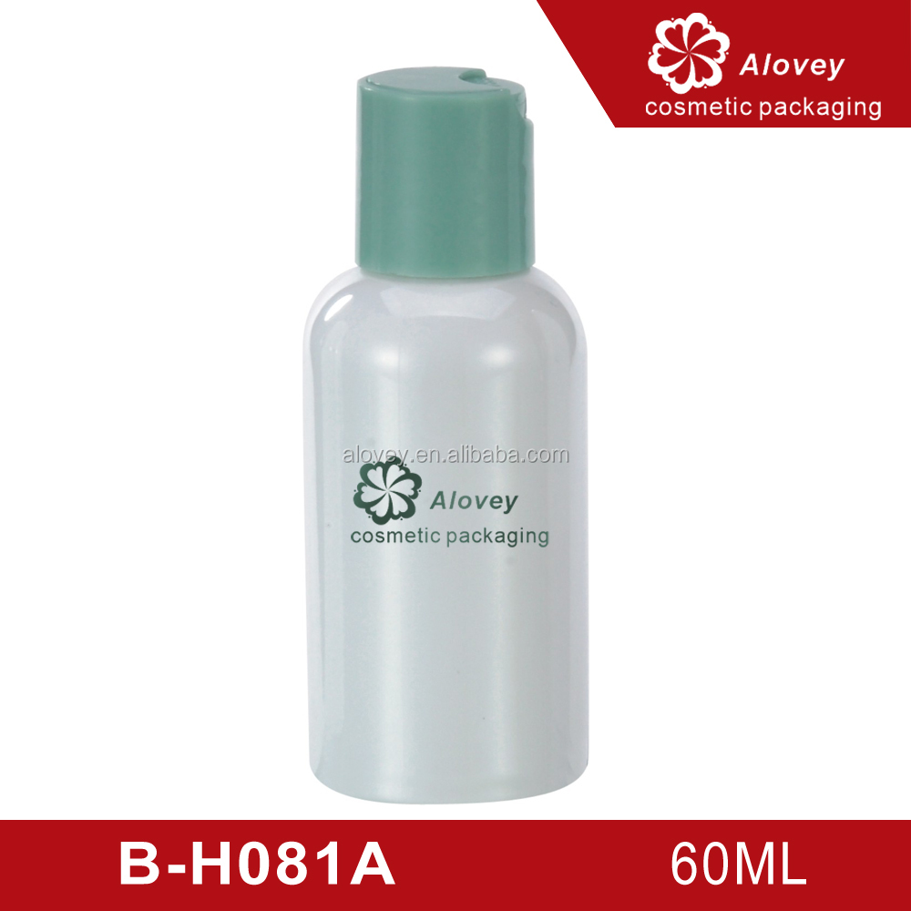 60ml Plastic Hair Oil Label Squeeze Screw Cap Cosmetic Bottle