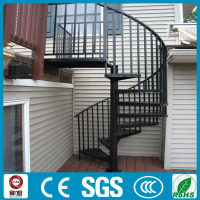 cheap price prefab outdoor iron spiral stairs