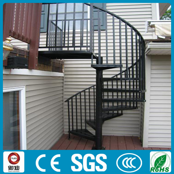 modern prefab outdoor iron spiral stairs