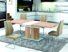 cheap sample glass top latest designs of dining tables