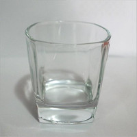 2016 Hand Blown Square Bottom Whisky Glass Manufacture Clear Drinking Glass