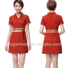 oem supply spa and beauty uniform 100% cotton for ladies massage uniform reasonable price